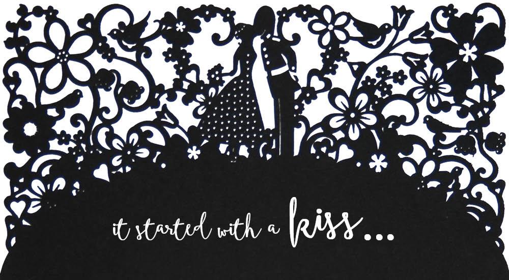 View laser cut wedding invitations in Chartula A Little Romance.