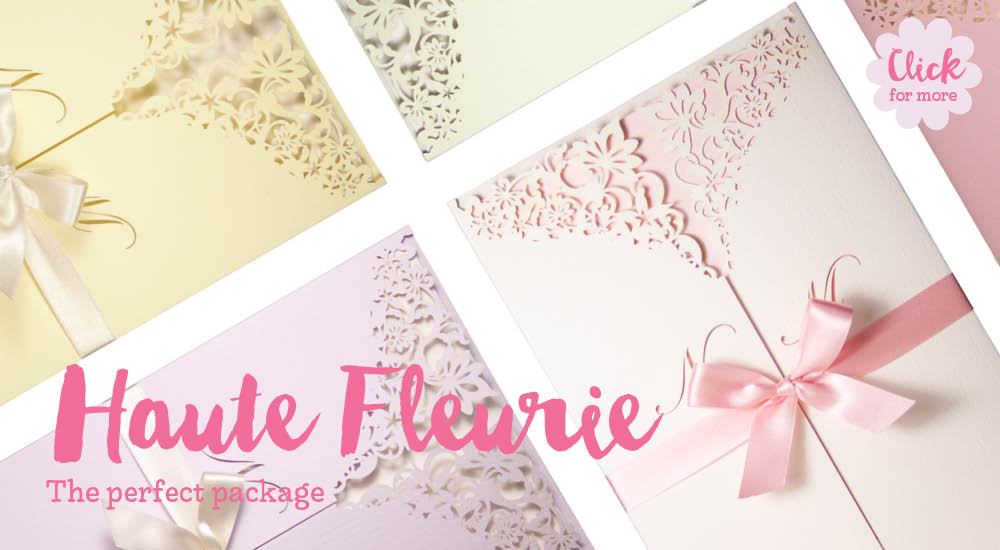 View bespoke wedding invitations and bespoke wedding stationery for Chartula Haute Fleurie Pastels.