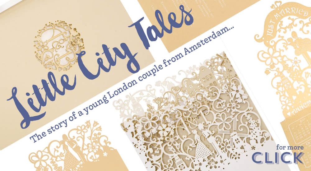 View bespoke wedding invitations and bespoke wedding stationery in Chartula Little City Tales.