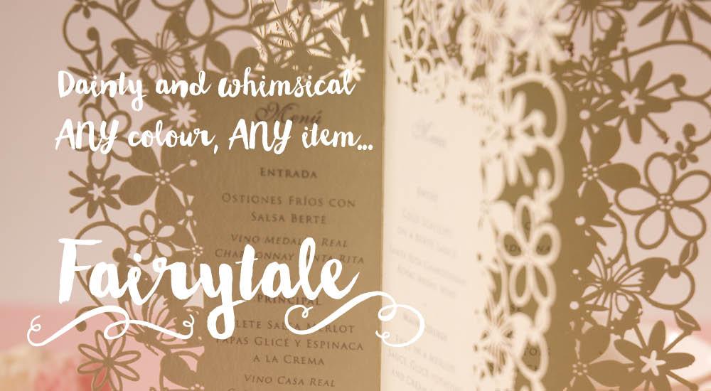 Chartula — Fairytale wedding invitations. Laser cut.