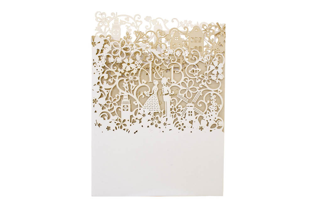 View larger wedding invitations London and Amsterdam in Chartula Little City Tales.