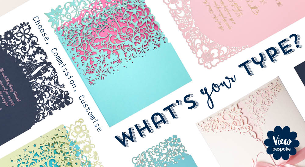 Laser cut wedding invitations and couture wedding invitations by Chartula