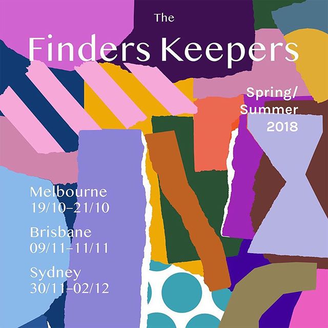 I'm pretty excited to share this one! I've been working closely with the incredibly amazing @finders_keepers to develop their SS18 Campaign 👆🏼 featuring the brilliant art of @leahbartholomew ... I have admired the inspiring women behind @finders_keepers for a long time and it is a dream come true to collaborate with them! #thefinderskeepers #community #design #art #event #madebyohbabushka