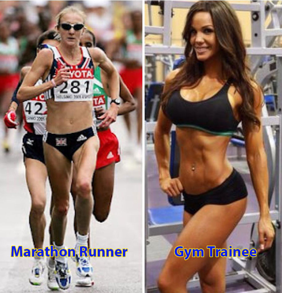 Marathoner vs Gym Girl