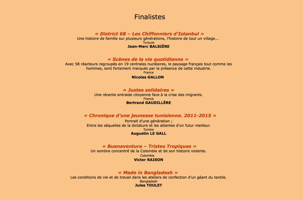 finaliste sophot 2016