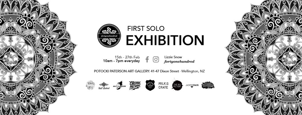 fortyonehundred First Solo Exhibition banner