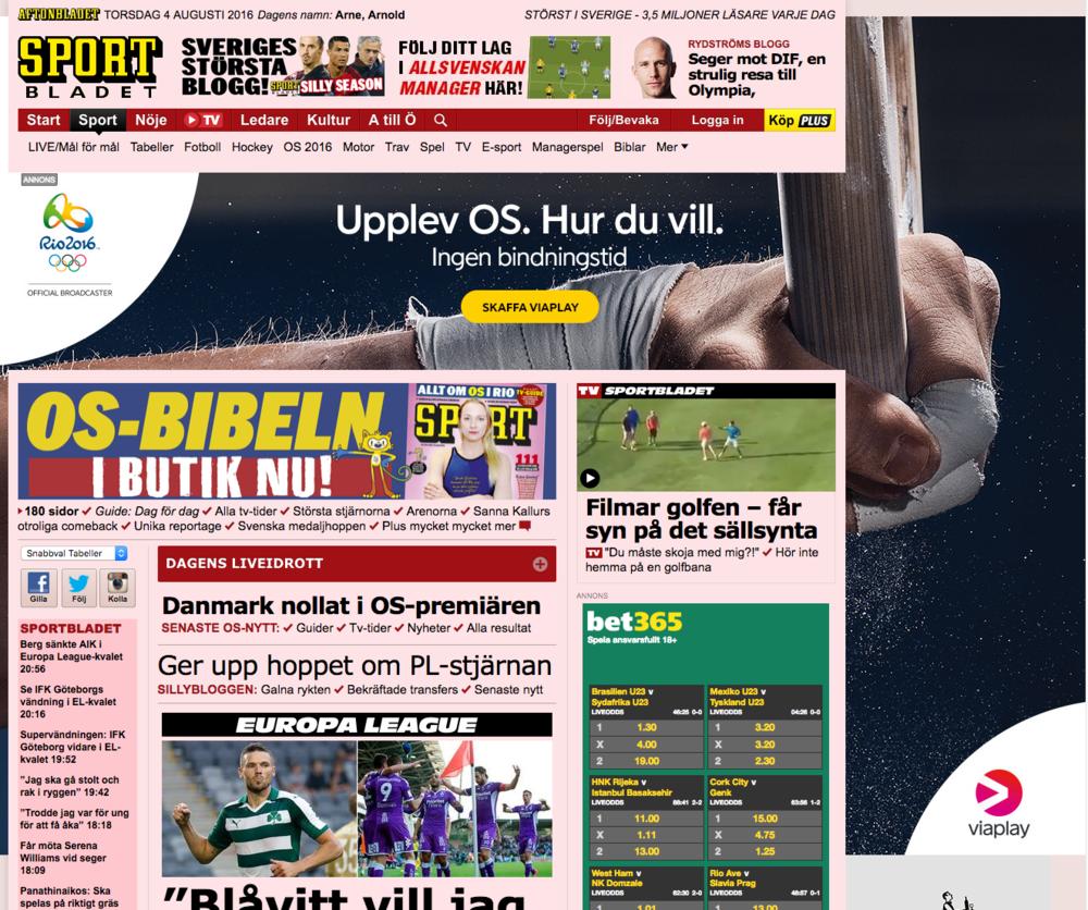 Aftonbladet banner