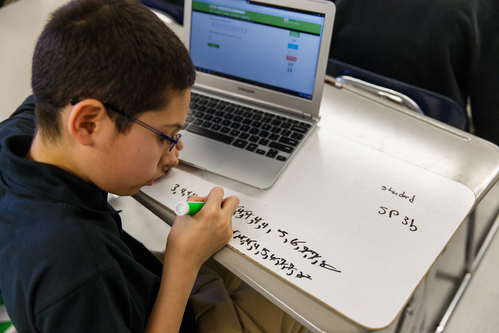 8:30 AM – PROBLEM SOLVING  Scholars engage in an inquiry-based math problem solving lesson where they grapple with meaty problems on their individual white boards and then share and discuss their solutions as a class.