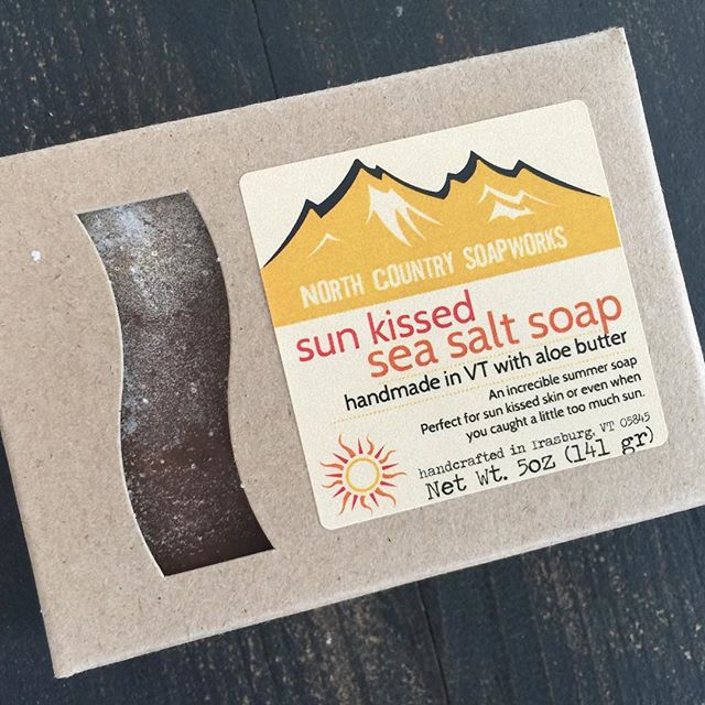 It might feel like winter outside but we're busy gearing up for summer with our soothing Sun Kissed Sea Salt Soap handmade with aloe butter and aloe leaf. #aloesoap #seasaltsoap #summersoap #vermontsoap #vermontsoapmaker