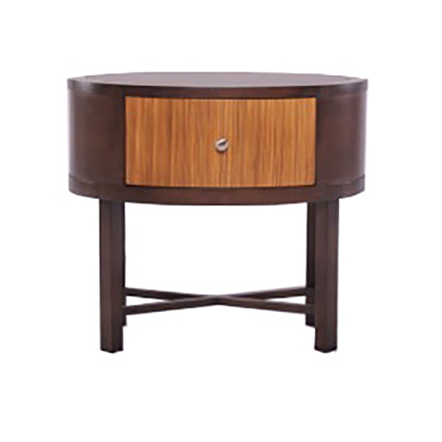 Oval Nightstand with zebrano veneer on drawer front, CG-0135-VT, FUR 102 HBT, 28%22L x 18%22 D x 25%22 H.png