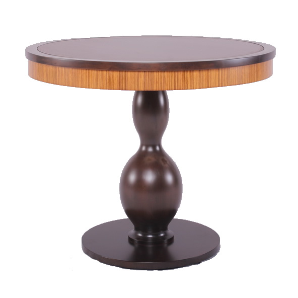 Round Dining Table - Round with zebrano veneer on apron-HBT.png