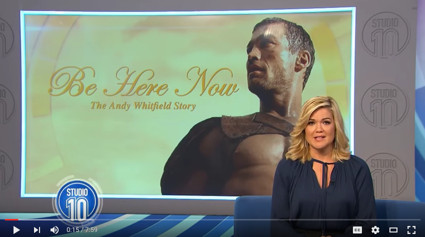 Vashti Whitefield, wife of Spartacus actor, Andy Whitfield and Academy Award nominee Director, Lilibet Foster, interviewed on Studio 10 about Be Here Now.  The movie documents Andy's battle with non-Hodgkin lymphoma and can be seen around the country on the cinema on demand platform TUGG. For more information go to https://tugg.com.au/be-here-now-the-andy-whitfield-story/