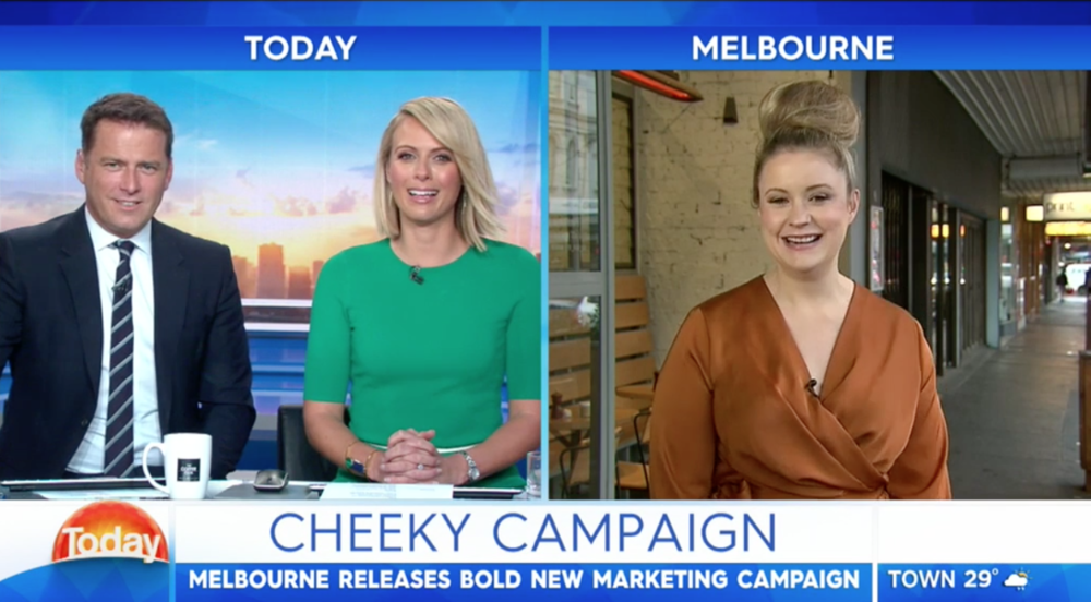Chrissie Maus appears on The Today Show, discussing Melbourne's guerilla tactics of bringing Sydney-siders down to play in Victoria. Play till it's my bed time, not Mike Baird time.