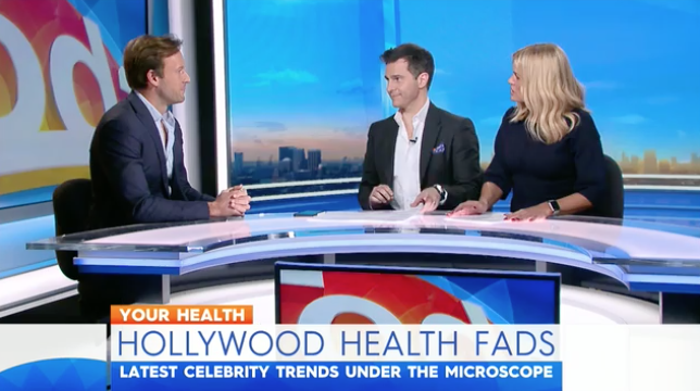 TV's Dr Zac Turner has appeared on Today Extra and placed the health fads of Kim Kardashian, Jen Aniston, Lindsay Lohan and many more under the microscope. Are they safe, beneficial or downright dangerous?