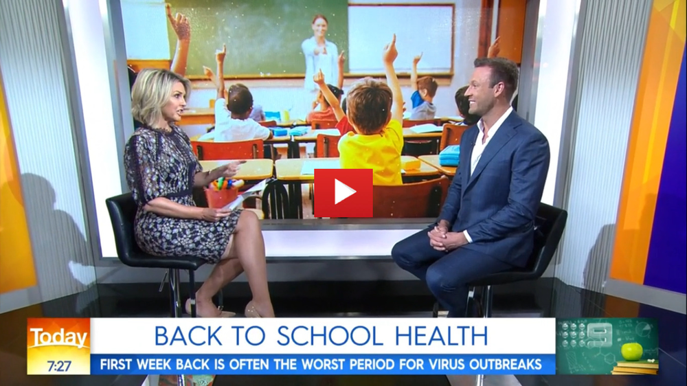 The first week back at school is often the worst period for virus outbreaks. Listen to some of these tips from Dr Zac to keep the kids healthy and happy!