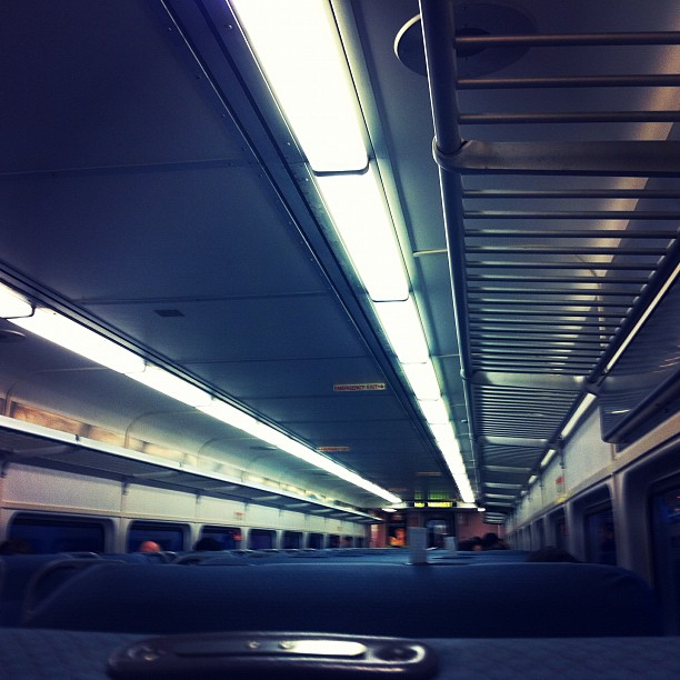 Early train to Jerzzz - Cackalack bound (Taken with  instagram )