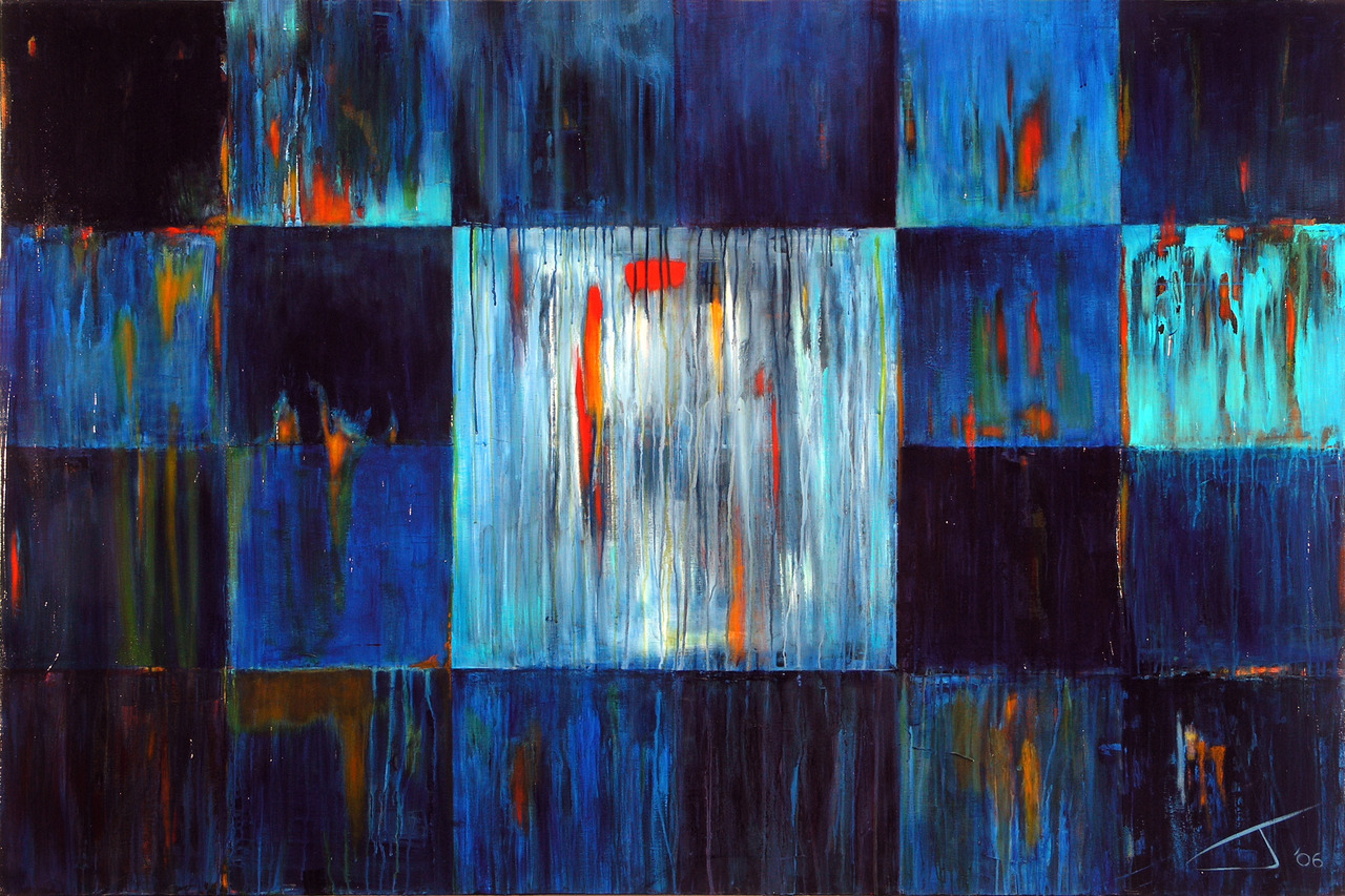 "jameswyper :      Rainstorm , 48"" x 72"", acrylic/canvas, 2006"