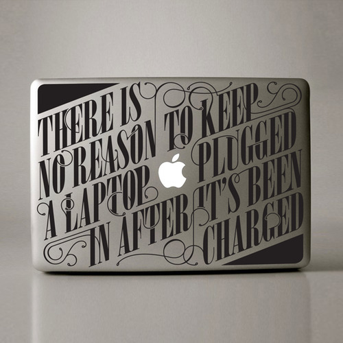 snazzy…  simplypi: Typographic Macbook Stickers