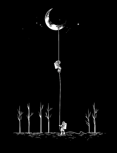 graphiceverywhere :      Reach For The Moon  (by  Chow Hon Lam )