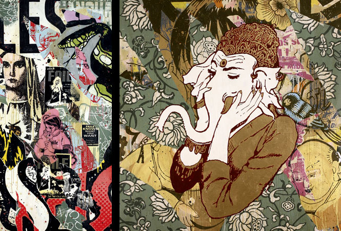 dope print of ganesha, artist is FAILE…  (you did answer me, i just didn't see it, doh) thanx, thekrizzo