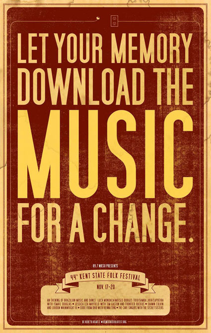 abbyjean :      GOOD Design Daily : Concert Posters Against Social Media, for Social Interaction