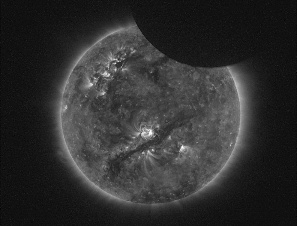 this last eclipse was particularly auspicious    p3p510 :     An image of the January 4th partial eclipse seen by the SWAP telescope aboard PROBA2, an ESA micro-satellite launched back in November of 2009. (ESA / PROBA2 Team)