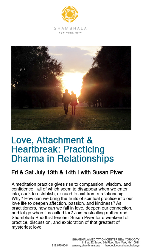 Who doesn't need help in relationships?  This looks pretty good and with a fantastic teacher. See you on the cushion.