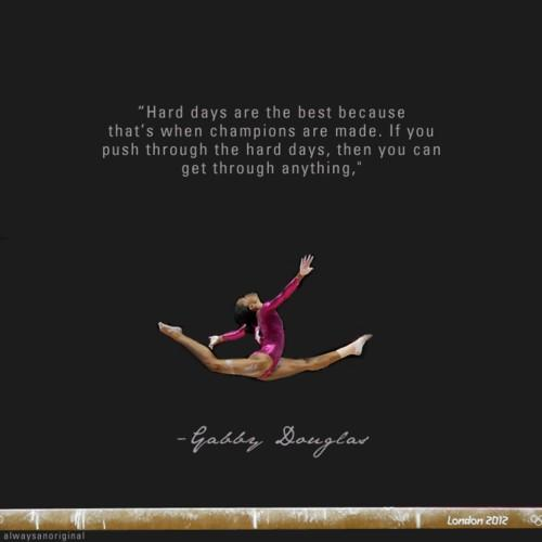 work-hard-no-excuses :     Gabby Douglas      Yogi…