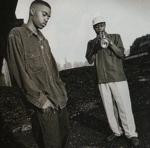 pathsofrhythm- :      Nas and his father, Olu Dara.