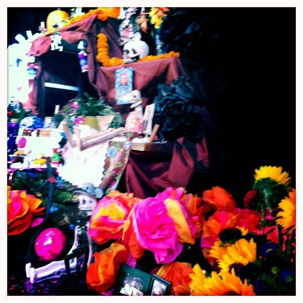 Dia de Los Muertos altar at advanced therapeutic yoga training. Good stuff