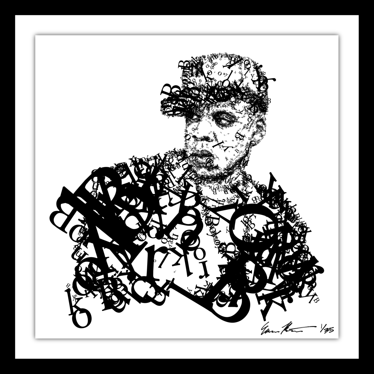 Brush the proverbial shoulder off…    Jay-Z (artwork by  Evan Roth )