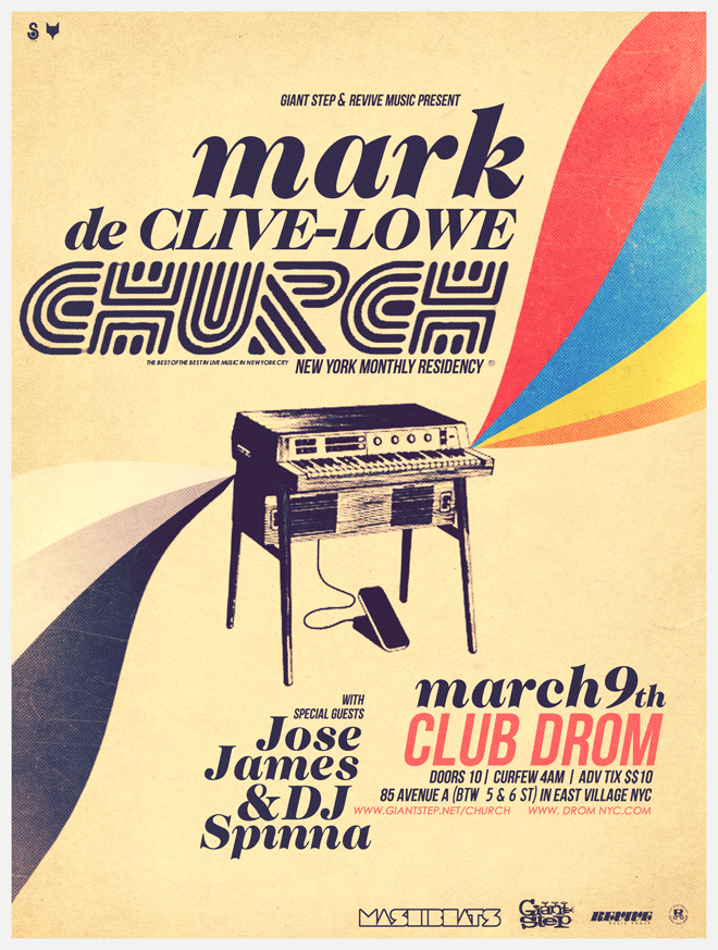I played Jose James tonight in class - last song, Little Bird. He's singing with the amazing Mark de Clive Lowe tomorrow night at Drom. Who's in?    Oh!! And DJ Spinna (What?!?!)