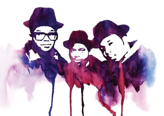 via 3arth :     Water Color: Run DMC