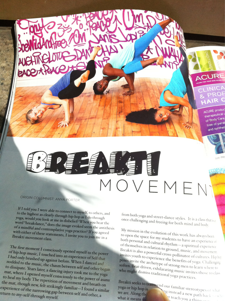 Breakti (in my own words) featured in Origin Magazine!!! With the likes of Chuck D, Saul Williams, and Dead Prez!!! (what!!?!?!). So excited. Humbled. Beyond words.