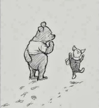 """Piglet noticed that even though he had a Very Small Heart, it could hold a rather large amount of Gratitude.""     ―   A.A. Milne  ,   Winnie-the-Pooh"