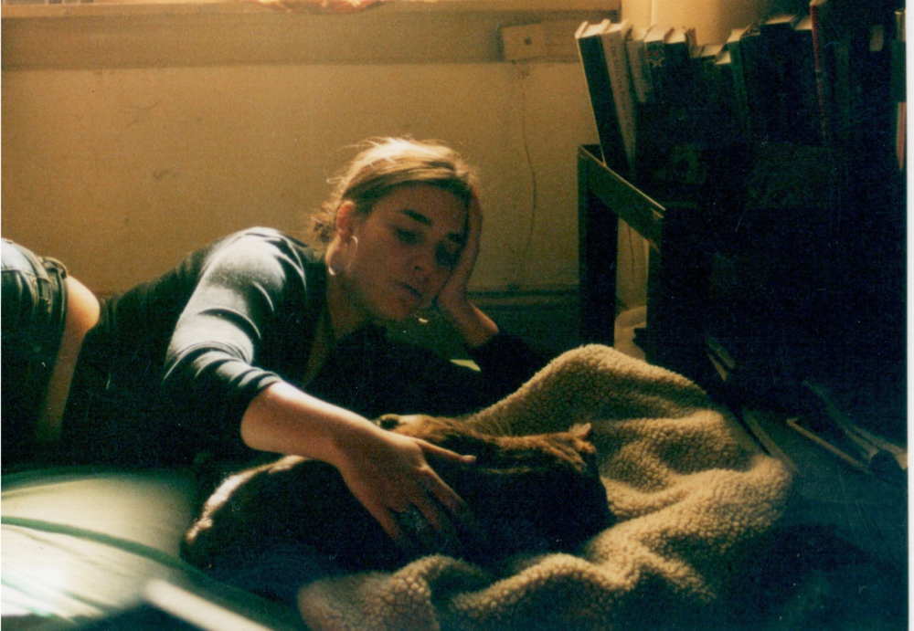 Zoe in 2002; my apartment in Philadelphia