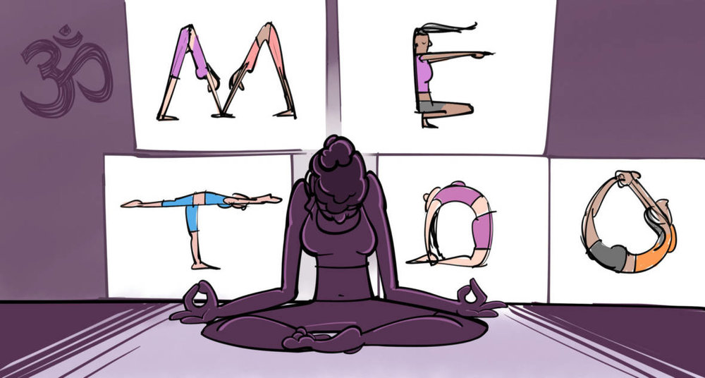 (image from KQED's great piece on yoga and #metoo - click here to read)