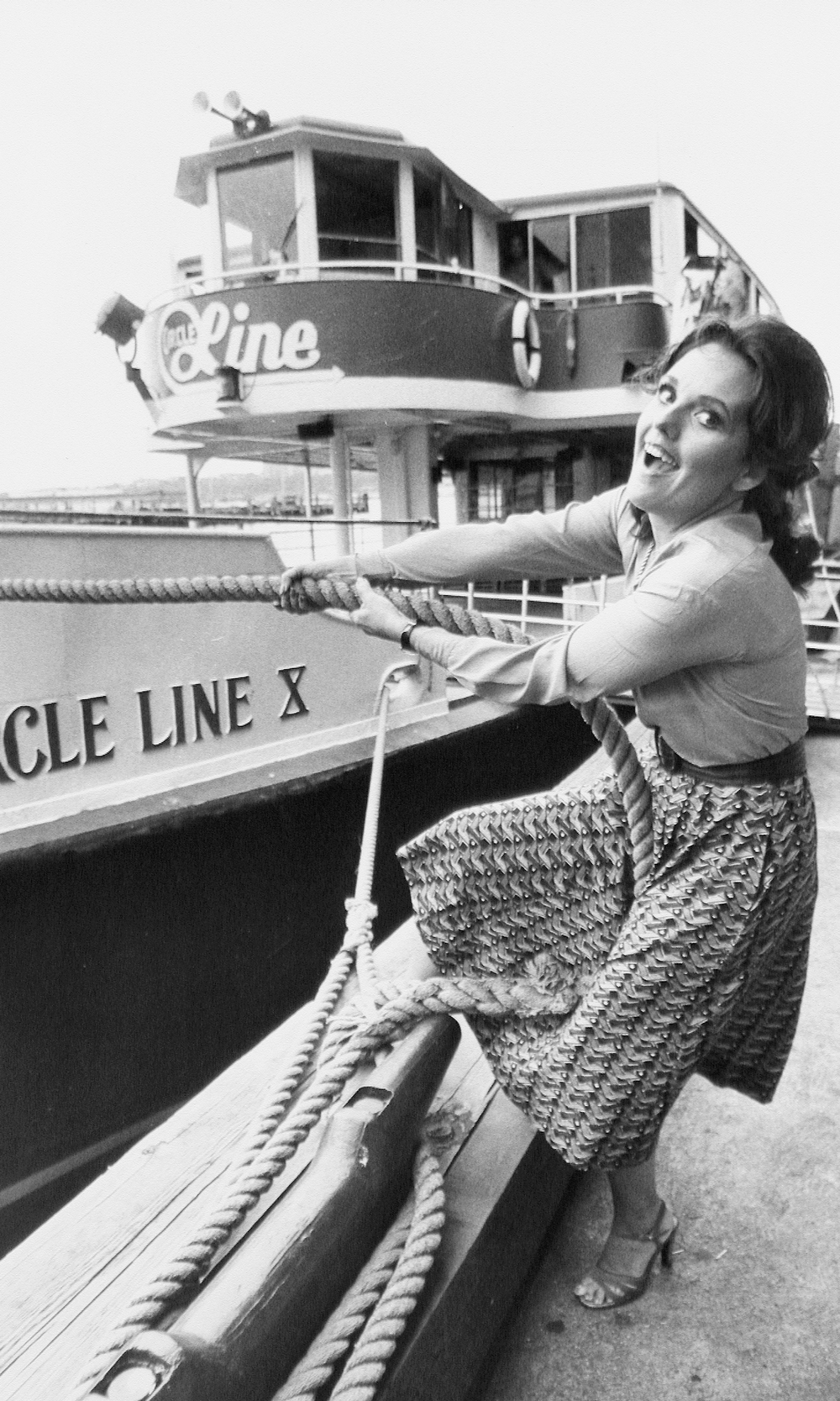 "1960s: Actress Dawn Wells, who is best known for playing Mary Ann on ""Gilligan's Island,"" on the Circle Line Pier. She apparently has an affinity for three-hour tours."