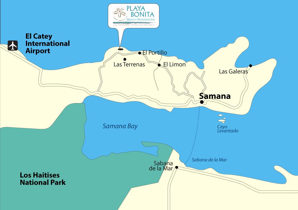 Samana Peninsula Map