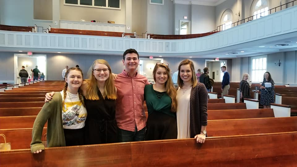 Graduates (left to right): Kathryn Jones, Rachel Bass, Jace Mitcham, Kaitlyn Knight, Carly Jo Dobyns