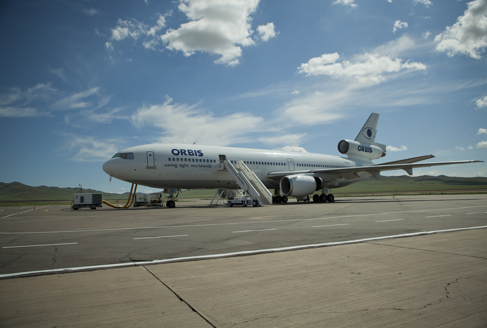 ORBIS ONE parked at Ulan Bator Airport