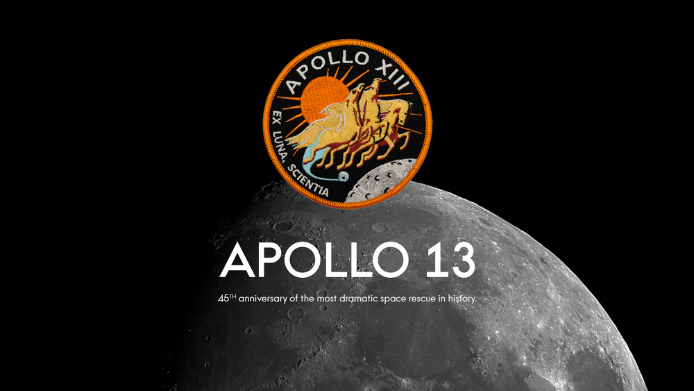 APOLLO13    -      45th anniversary of NASA's most enduring rescue mission