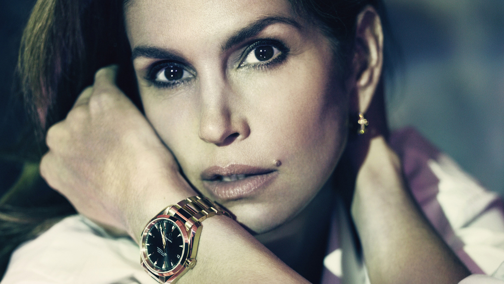 CELEBRATING 20 YEARS TOGETHER  - Omega photo shoot with Cindy Crawford