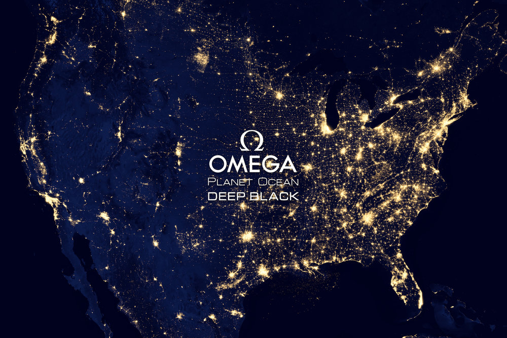 PLANET OCEAN DEEP BLACK EDITION  - OMEGA pays tribute to our dark ocean planet.
