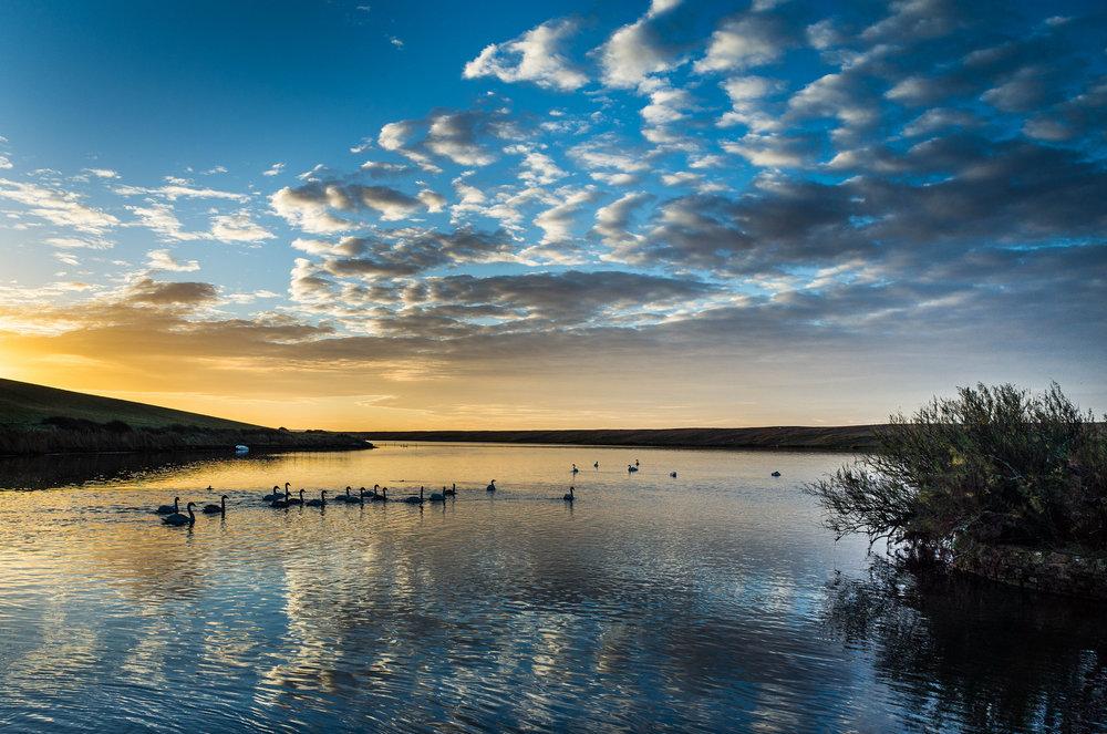 Dawn at Chesil Beach
