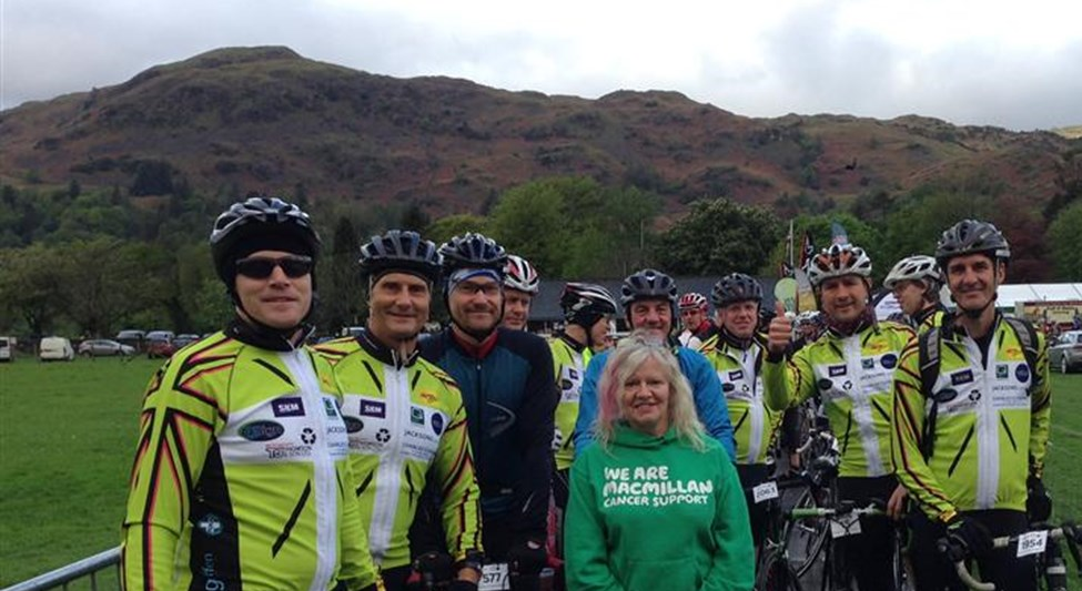 Here's the BHV Team at Fred Whitton Cycling Challenge, where they raised £13,955 for Macmillan Cancer Support in memory of former team member