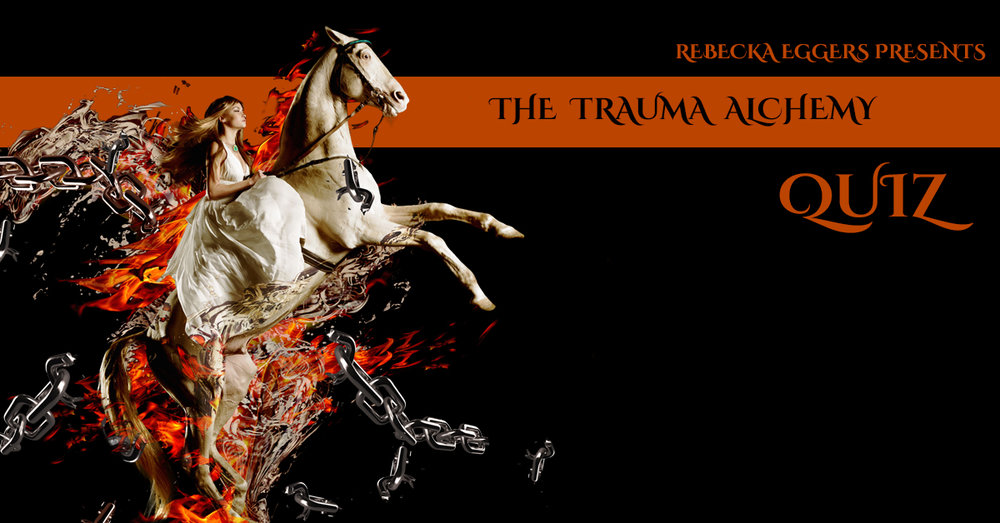 Click the image to take my Trauma Alchemy Quiz. I full out designed it myself to help you discover what your PRIMARY trauma coping strategy is WHEN YOU ARE AT YOUR WORST (based on the Four Fs of trauma, fight, flight, freeze and fawn). So don't write to me and tell you you are so much more sane than this. I've heard it before! It will also help you to understand your path into thriving based on the normalization of this response and the integration of the others.