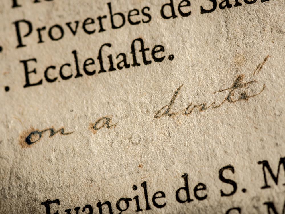 Bible de Chevalier de Lorimier, Tracy, 2014
