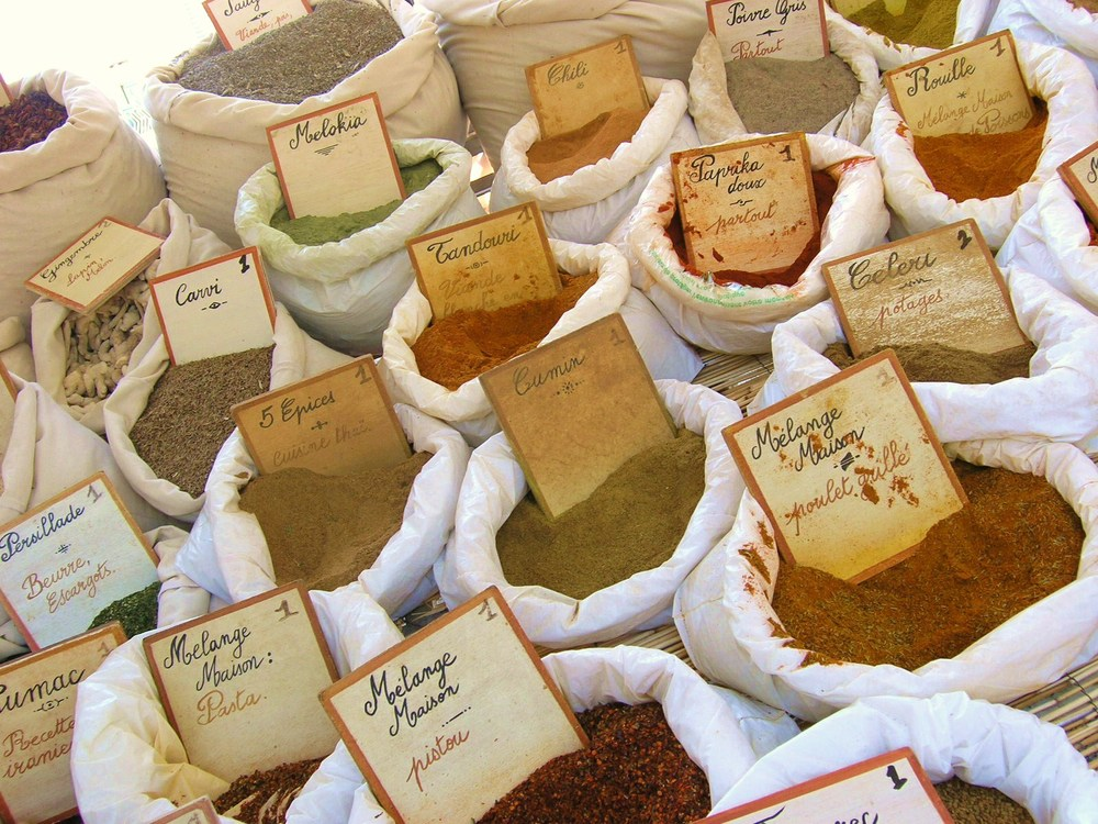 Lorgues Market spices.JPG