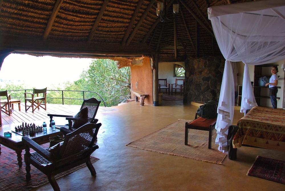 Nature's panorama from our suite at Elsa's Kopje, Meru National Park, Kenya.